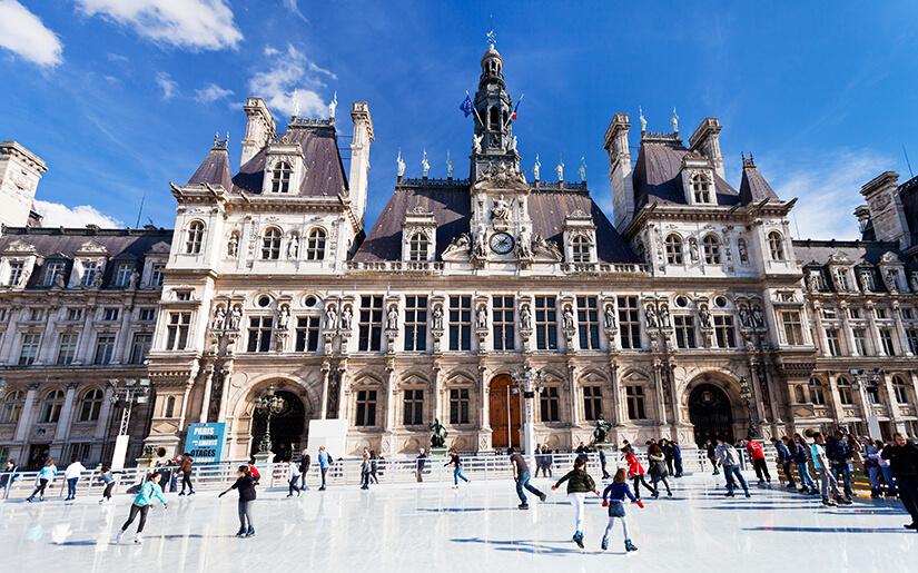 מתחמי החלקה על הקרח בפריז - Ice Skating Rinks in Paris