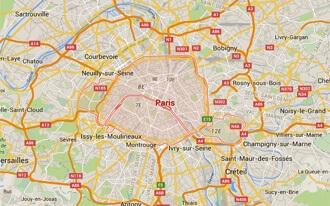 פריז מפה